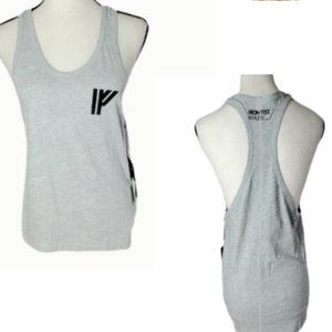 IRON FIST ATHLETIC.  RACERBACK TANK TOP GRAY NWT